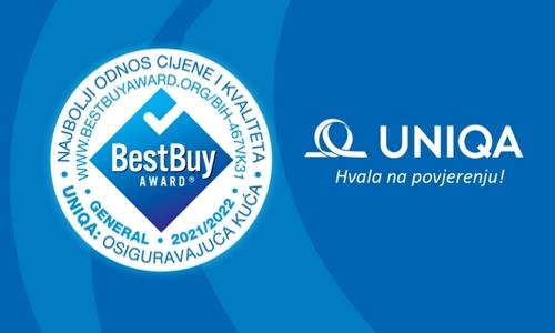 UNIQA osiguranje dobitnik nagrade Best Buy Award za BiH